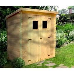Test abri de jardin en bois 3 m²