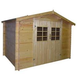 Test abri de jardin en bois FSC brut
