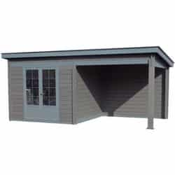 Test abri de jardin toit plat Pool House