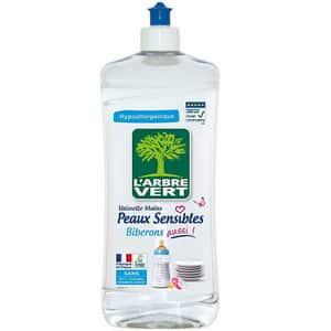 Test et avis sur le liquide vaisselle écologique L'Arbre Vert