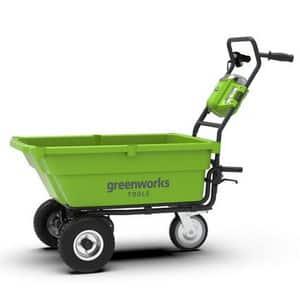 Test et avis sur la brouette Électrique Greenworks 40v