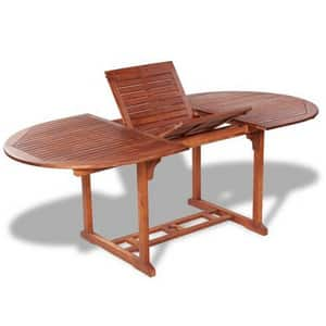 Test et avis sur la table de jardin extensible en bois d'acacia massif