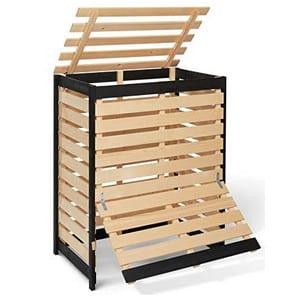 Test et avis sur le bac de compostage en bois IDMarket
