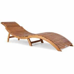 Test et avis sur le bain de soleil en bois d'acacia Casaria
