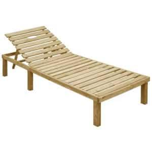 Test et avis sur le bain de soleil en bois pas cher