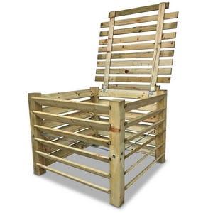 Test et avis sur le composteur en bois avec couvercle GartenDepot24