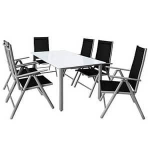 Test et avis sur le salon de jardin en aluminium Casaria Bern
