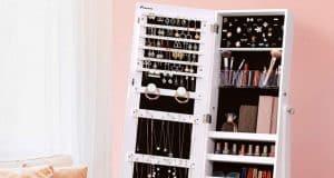 Meilleure armoire à bijoux sur pied