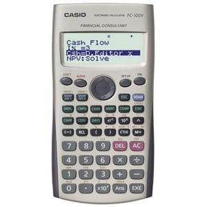 Test et avis sur la calculatrice financière Casio FC 100V