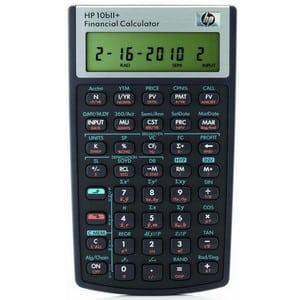 Test et avis sur la calculatrice financière HP 10bII+