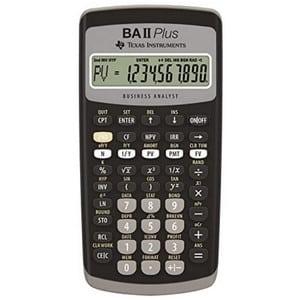Test et avis sur la calculatrice financière Texas Instruments BA-II Plus