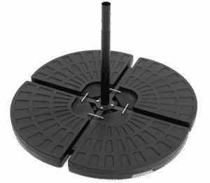 Test et avis sur le pied pour parasol déporté 80 kg ToCi