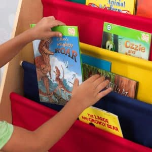 KidKraft porte-livre en bois et tissu