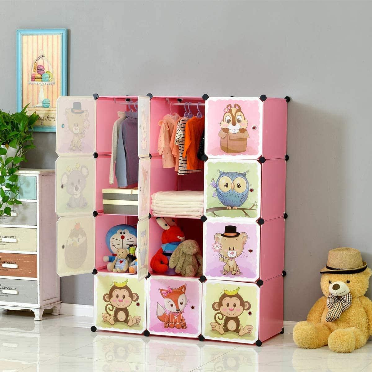 armoire bébé avec motifs d'animaux Brian et Dany