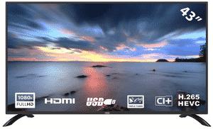 Test et avis sur le téléviseur LED HKC 43F3