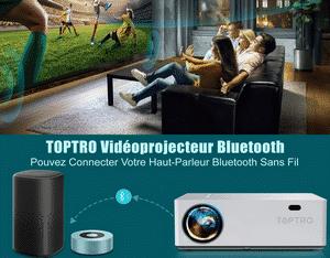 Test et avis sur le vidéoprojecteur Toptro Bluetooth 7800 LM